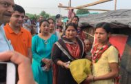 जेसीआई गोल्ड महिला विंग ने बांटी गरीब बस्तियों में सैनेटरी पैड व मच्छरदानियाँ
