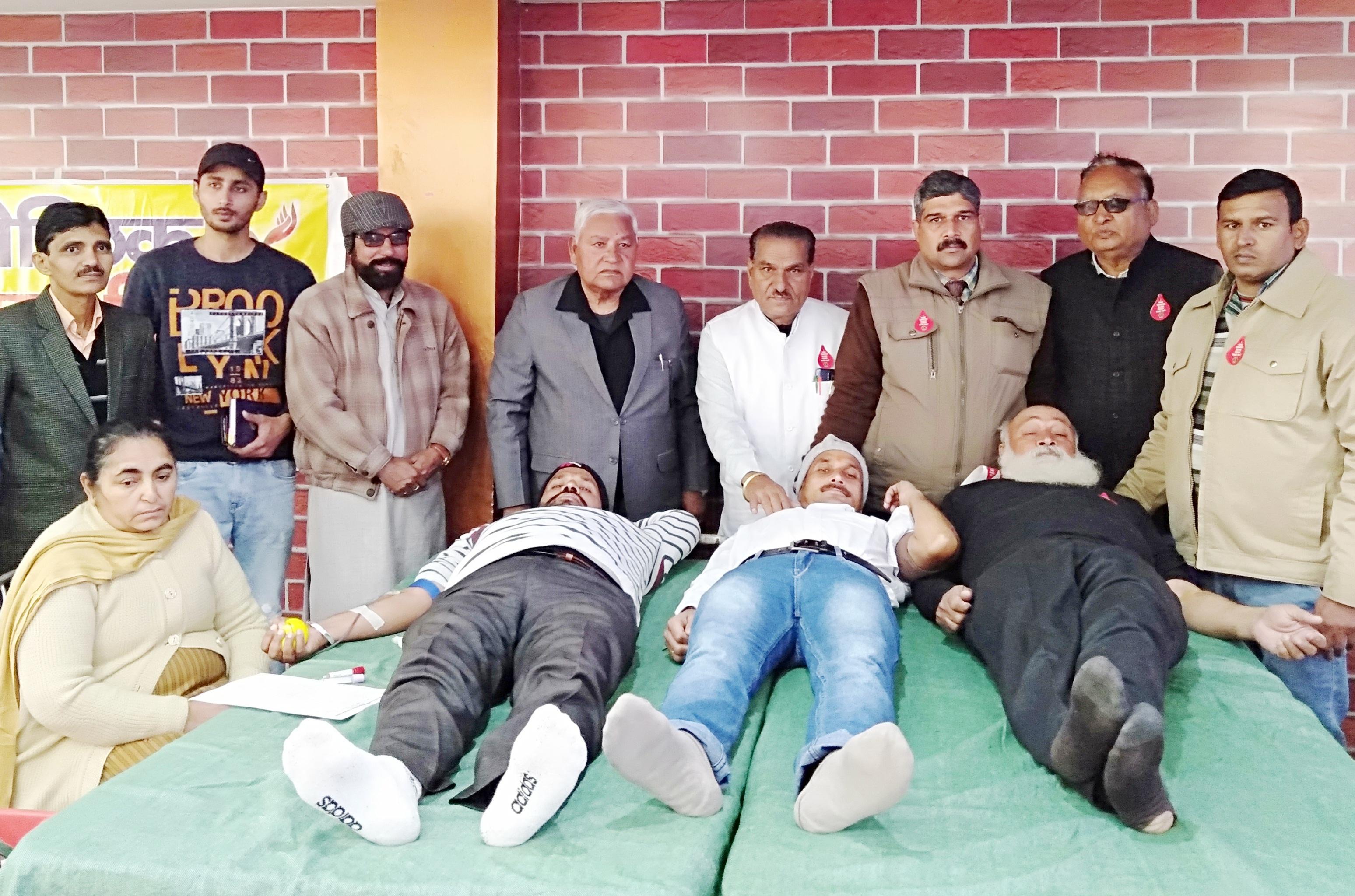 राष्ट्रीय बालिका दिवस और गणतंत्र दिवस पर स्वैच्छिक रक्दान शिविर आयोजित