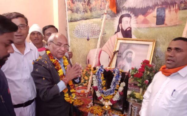 संत गुरु रविदास ने समस्त मानवता की भलाई के लिए किया काम : रामकुमार कश्यप