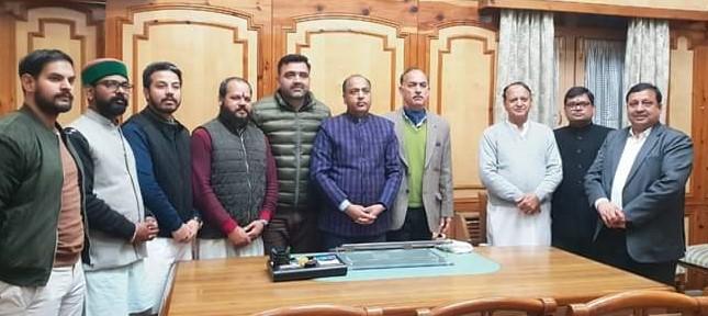 प्रदेश के मुख्यमंत्री जयराम ठाकुर के साथ हिन्दू जागरण मंच के पदाधिकारियों ने विशेष मुलाकात की