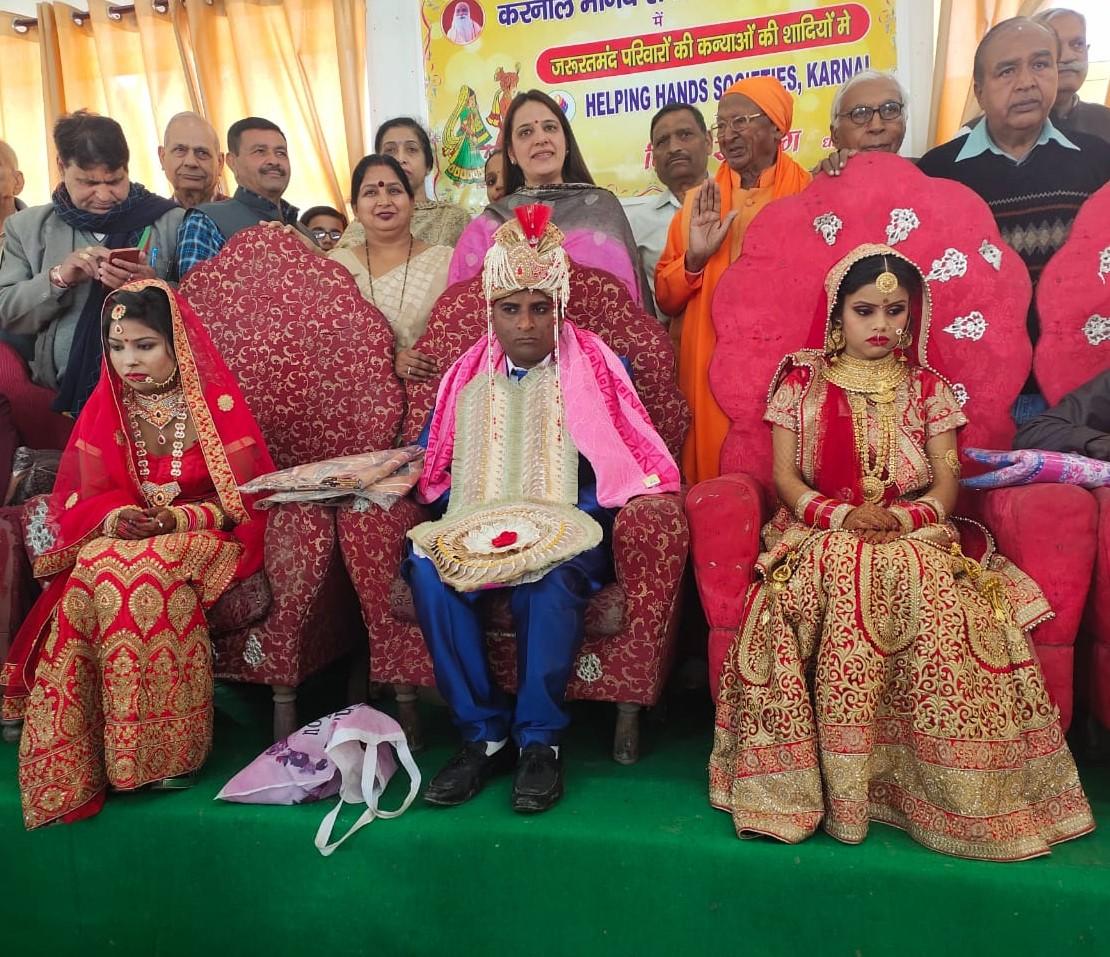 करनाल मानव सेवा संघ ने करवाया 7 कन्याओं का विवाह