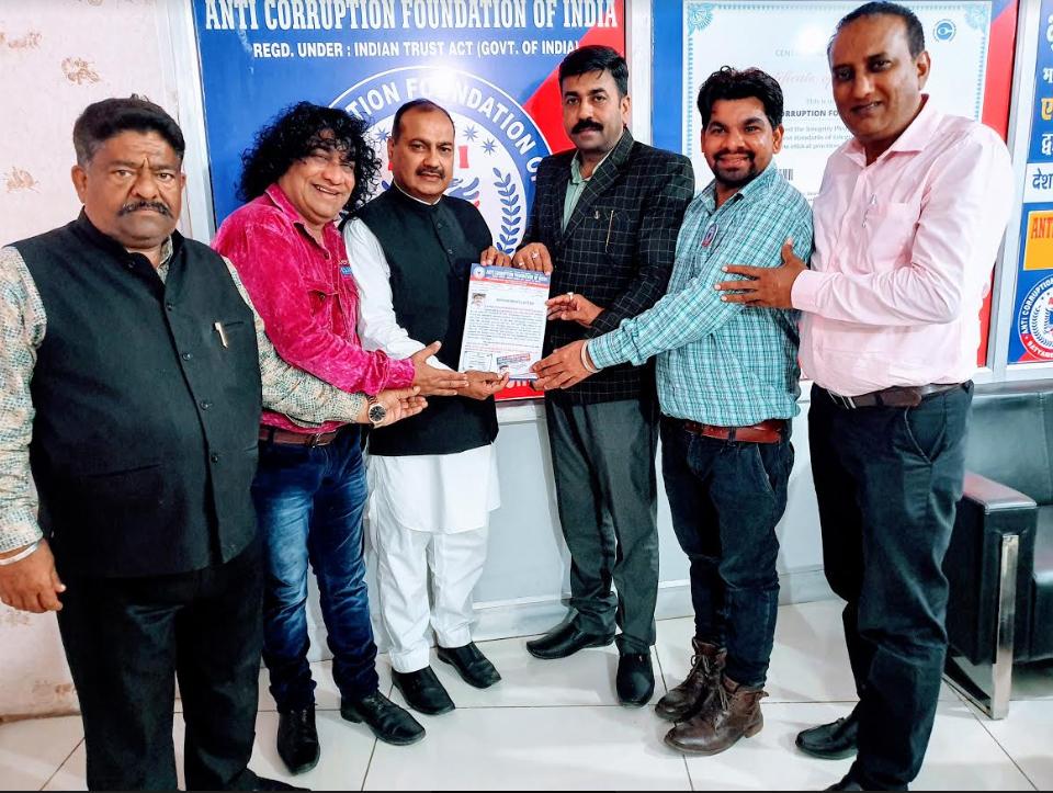 किशन सिंह राठौर एंटी करप्शन इंडिया के राष्ट्रीय संयोजक नियुक्त