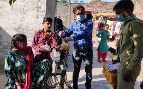 आराधना मंदिर द्वारा किए जा रहे भोजन वितरण का हार्दिक अनुमोदन