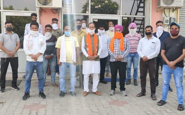 भारतीय जनता युवा मोर्चा मंडल अध्यक्ष रवि जैलदार ने मंडल कार्यकारिणी की घोषणा करी