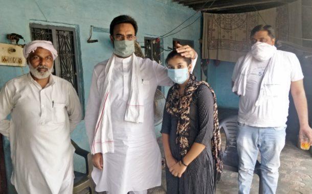 10वीं में जिले में दूसरे स्थान पर रही तन्नू को विधायक हरविंद्र कल्याण ने घर जाकर दी आशीष