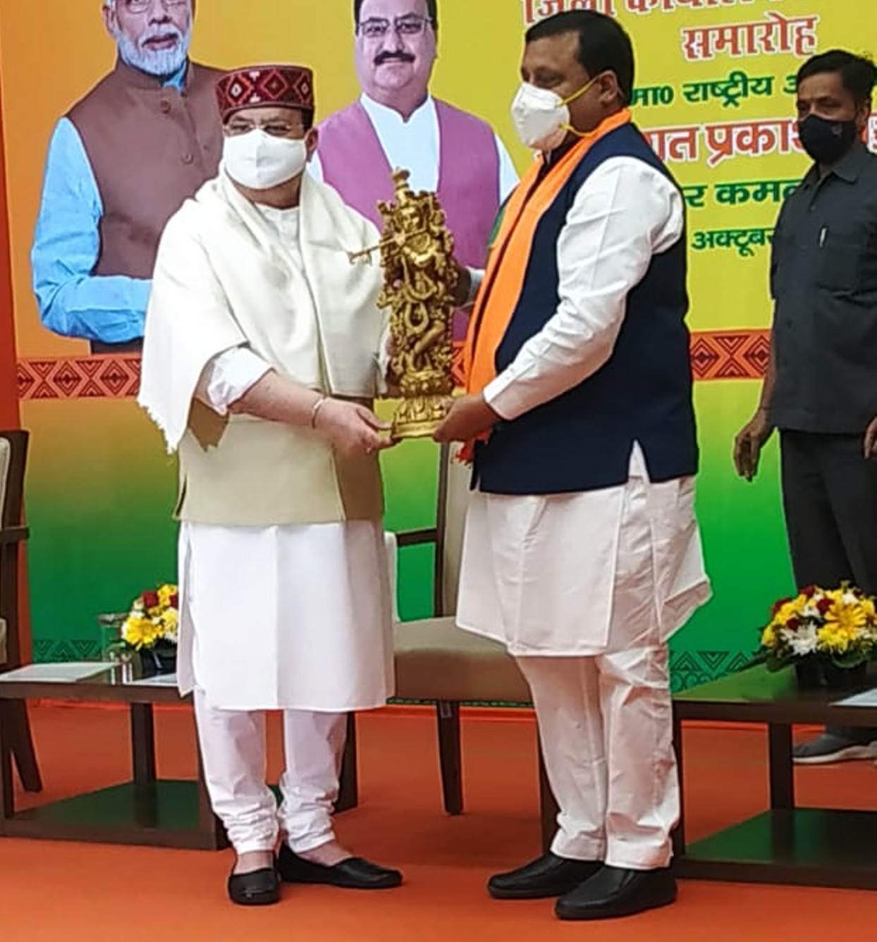 वीरेंद्र कंवर ने हरोली में बल्क ड्रग पार्क की स्थापना के लिए नड्डा से मांगा सहयोग