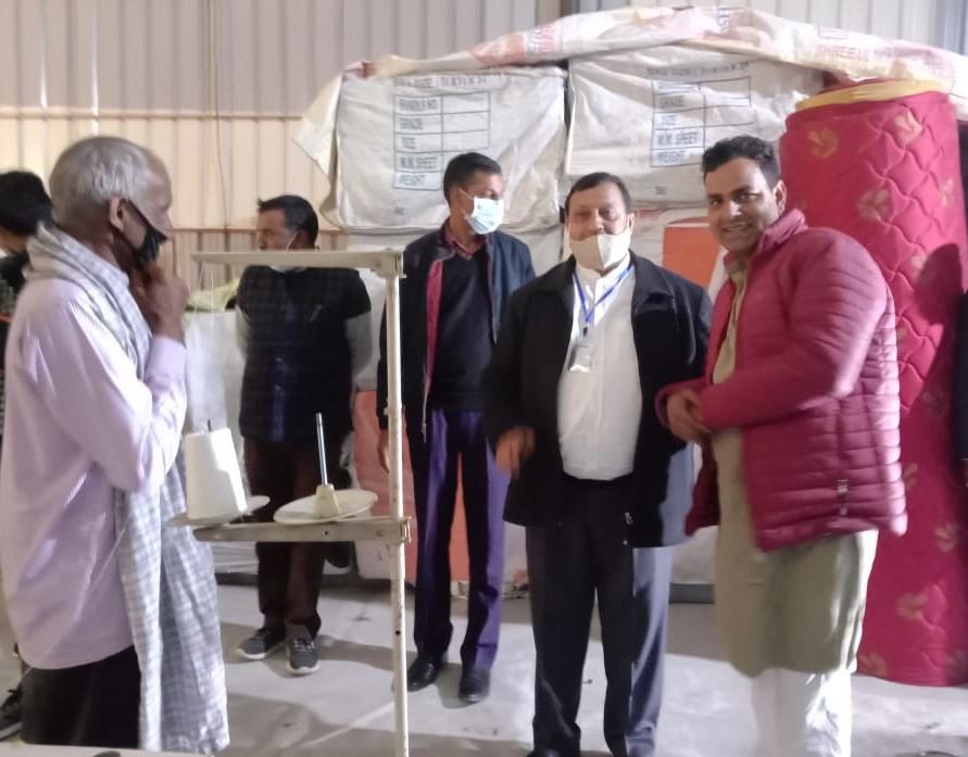 बंगाणा में खुला गद्दा उद्योगकृषि मंत्री एवं ग्रामीण विकास पंचायती राज मत्स्य पशुपालन मंत्री वीरेंद्र कंवर ने दी शुभकामनाएं